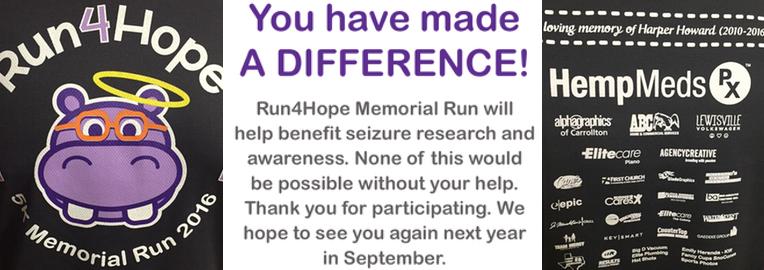 Did Run4Hope 2016 Raise Enough to Impact Seizure Research?
