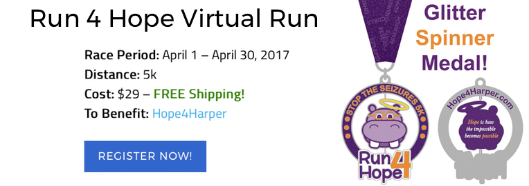 Going on NOW Through April 30 Run4Hope 5K VIRTUAL Run